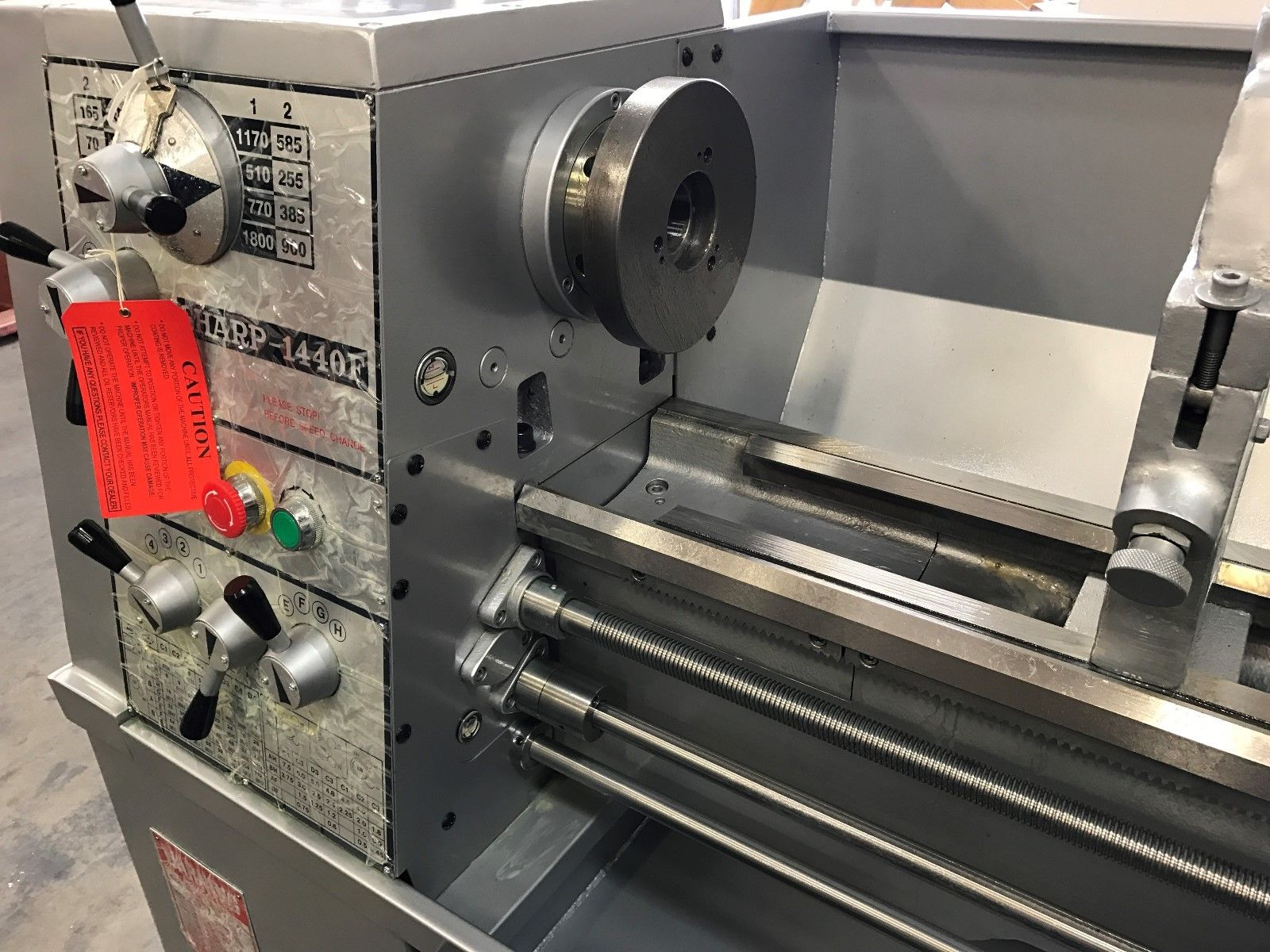 sharp  precision engine lathe