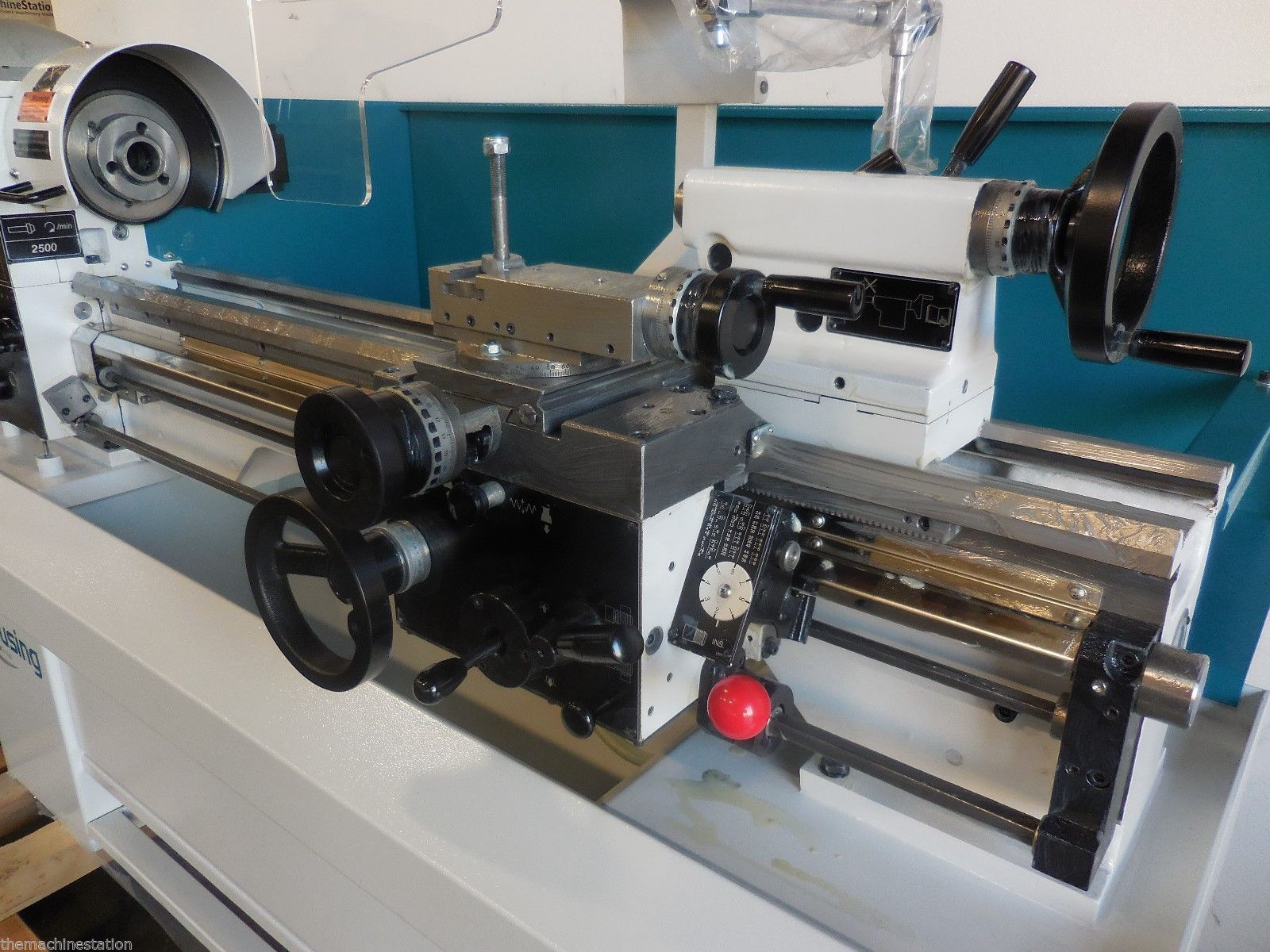 clausing colchester  geared head lathe machinestation