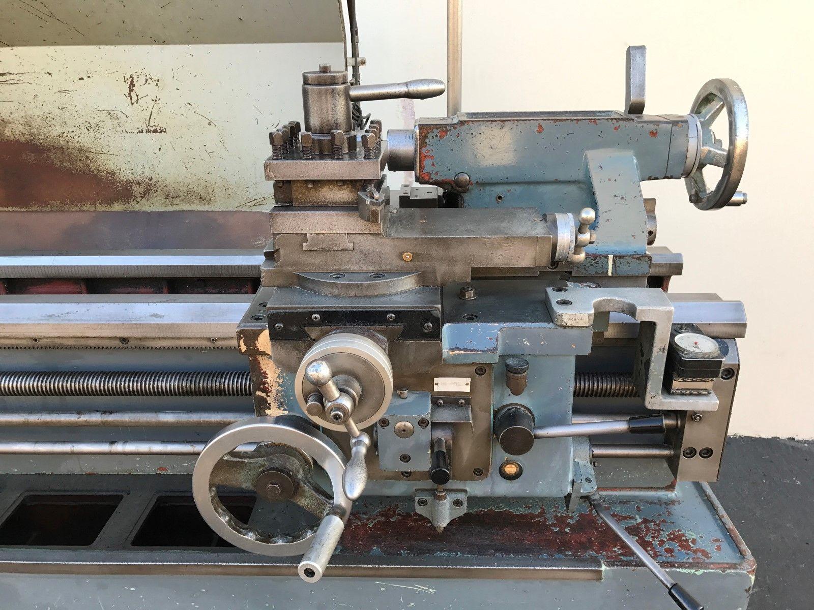hwacheon hl  gap bed geared head engine lathe machinestation