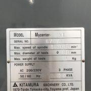Kitamura MyCenter 2Xi Sparkchanger CNC Machining Center Main i