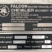 Used CHEVALIER QP-2033L VERTICAL MACHINING CENTER j