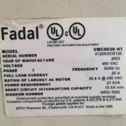 Fadal 8030 Vertical Machining Center California USA i