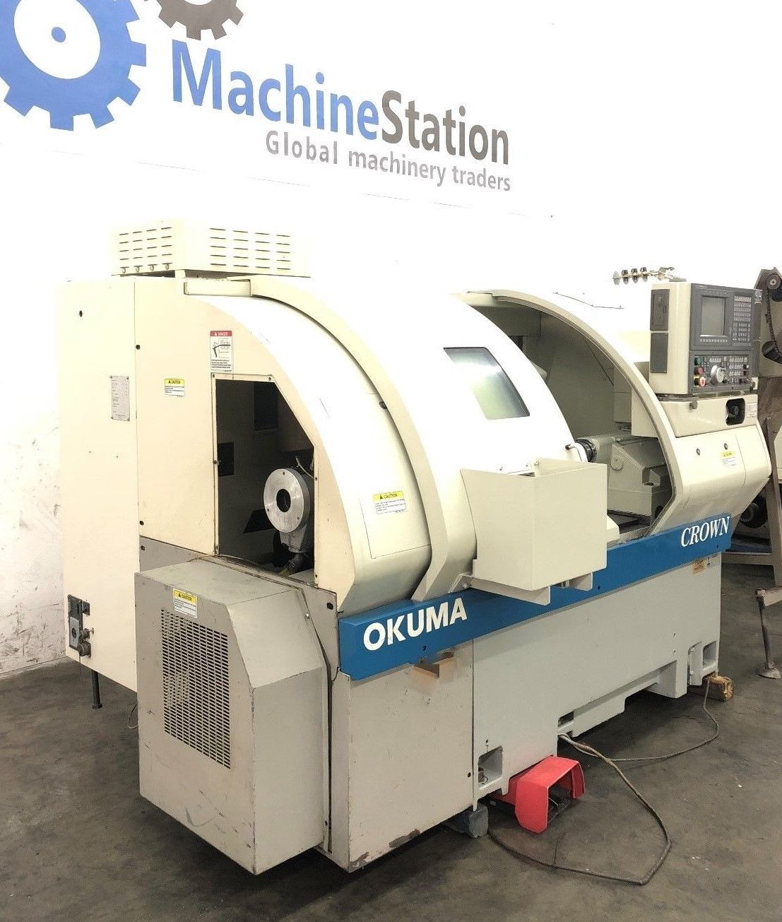 ... Used Okuma Crown 762S-BB CNC Turning Center Big Bore Lathe b ...