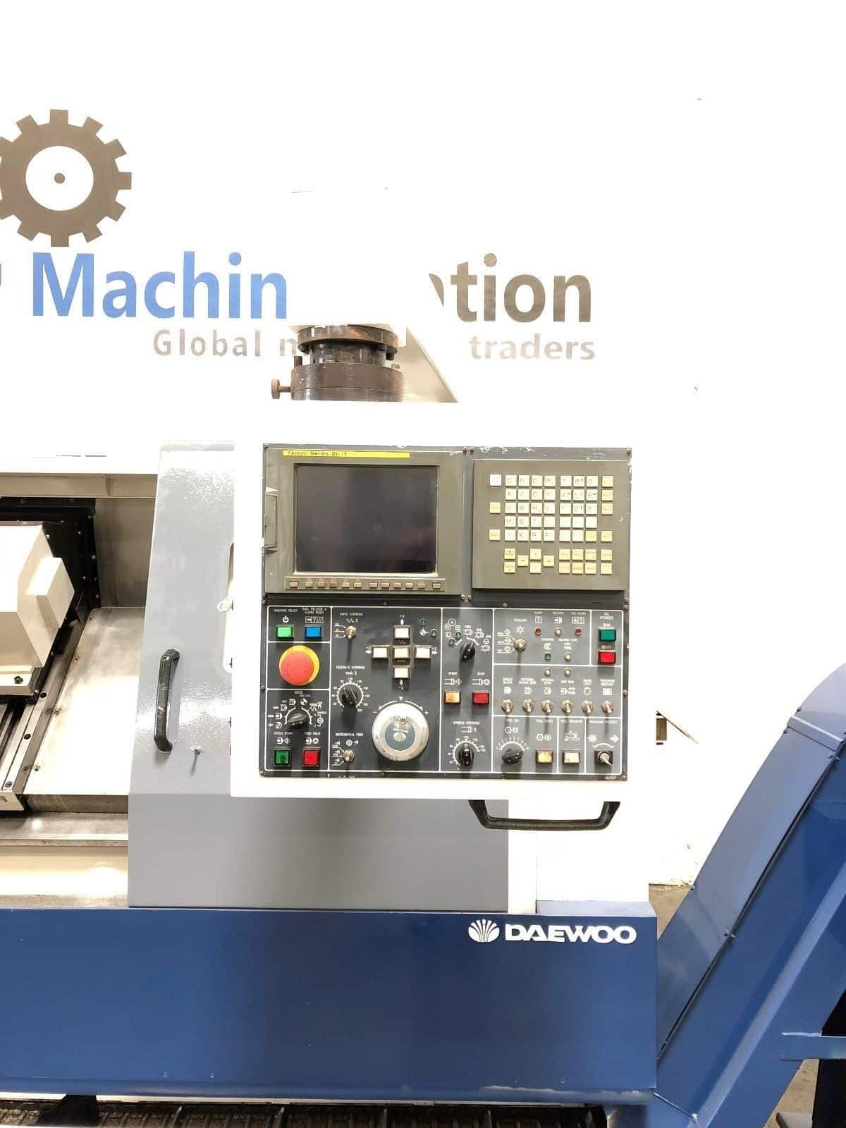 ... Used Daewoo Puma 300LC Long Bed CNC Turning Center d ...