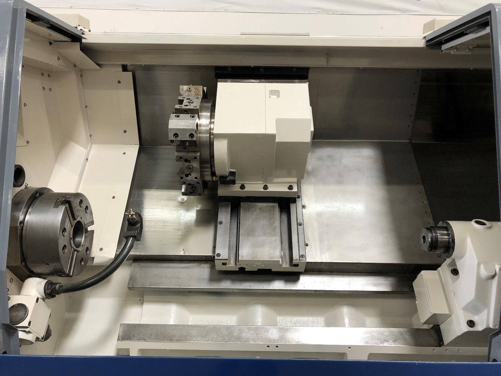 ... Used Daewoo Puma 300LC Long Bed CNC Turning Center e ...