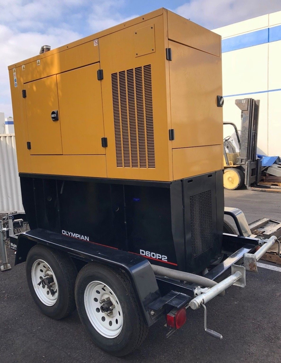 60Kw Caterpillar Olympian Mobile Diesel Generator with D60P2