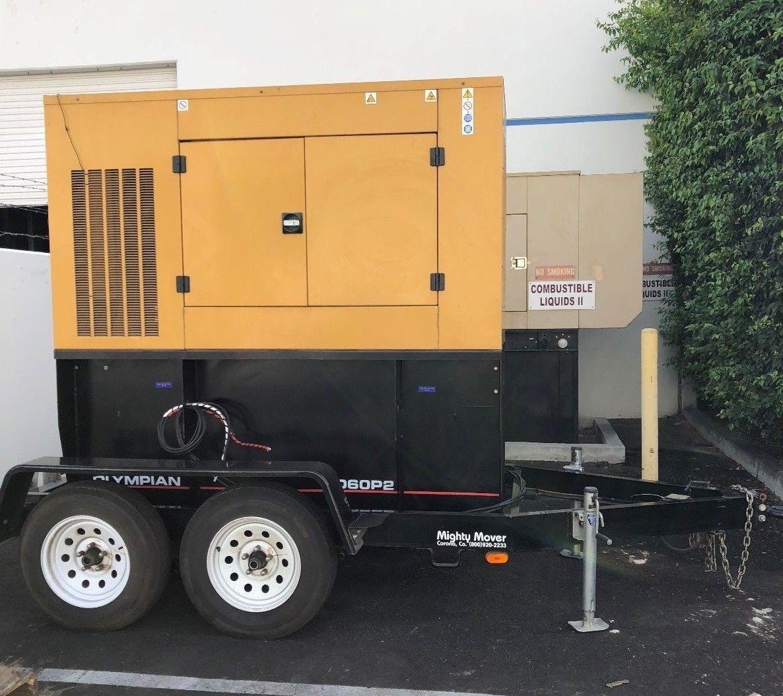 60 KW Caterpillar Diesel Generator with Trailer