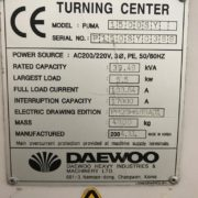 Used Daewoo Puma 1500SY CNC Turning for Sale in California j