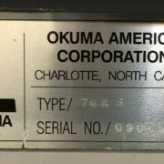Used Okuma Crown L1060 762S-BB CNC Turning Center for Sale in California j