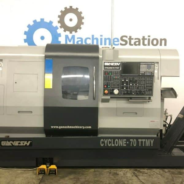 Used Ganesh Cyclone 70-TTMY CNC Twin Turret Lathe for Sale in California