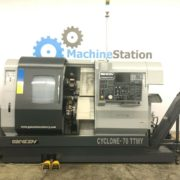 Used Ganesh Cyclone 70-TTMY CNC Twin Turret Lathe for Sale in California a