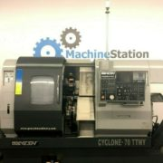 Used Ganesh Cyclone 70-TTMY CNC Twin Turret Lathe for Sale in California b