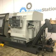 Used Ganesh Cyclone 70-TTMY CNC Twin Turret Lathe for Sale in California c