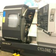 Used Ganesh Cyclone 70-TTMY CNC Twin Turret Lathe for Sale in California d