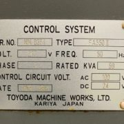 Toyoda FA-550II Horizontal Machining Center for Sale in California k