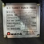 Used Amada Pega 357 CNC Turret Punch Press for Sale in California USA i