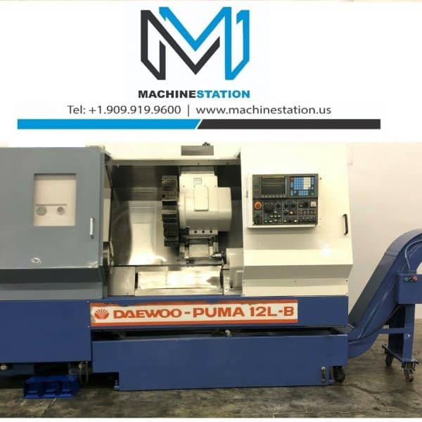 Used Daewoo Puma 12L CNC Turning Center for Sale in California a