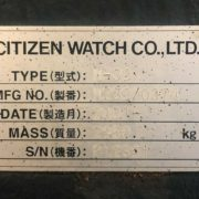 Citizen M-32 CNC Swiss Screw Sliding Head Lathe for Sale in California g