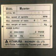 Kitamura Mycenter 4 CNC Vertical Machining Center for Sale in California k