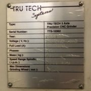 Tru Tech TT-8500 3 Axis CNC Surface Grinder for Sale in California k