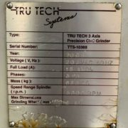 Tru Tech TT-8500 3 Axis CNC Surface Grinder for Sale in California l