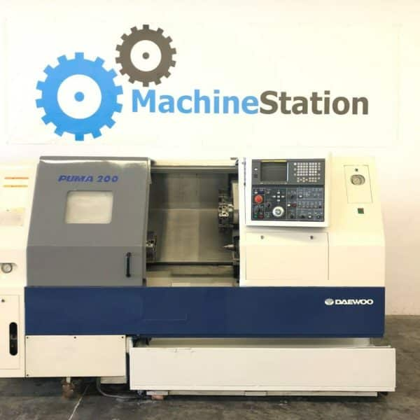 Used Daewoo Puma 200LC CNC Turning Center for Sale in California