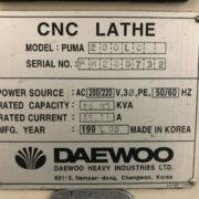 Used Daewoo Puma 200LC CNC Turning Center for Sale in California j