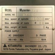 Used Kitamura MyCenter 3xi SparkChanger CNC Mill for Sale in California k