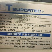 Used Supertec Planotec STP-2040CII 3 Axis NC Surface Grinder for Sale g
