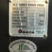 Amada Pega 255 CNC Punch press For Sale in California h