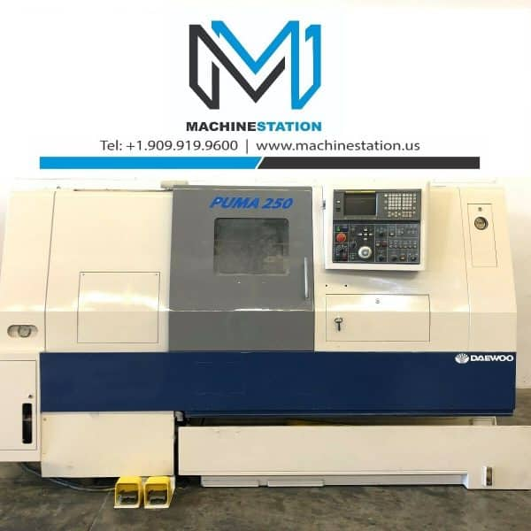 Used Daewoo Puma 250B CNC Turning Center for Salein California