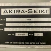 Akira Seiki SL-25 CNC Lathe Turning Center for Sale in California (11)