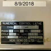 Mori Seiki SL-25B CNC Lathe for sale in California j