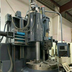 BULLARD DYNATROL 56 CNC VERTICAL BORING TURNING CENTER VTL LATHE FANUC 16T (1)