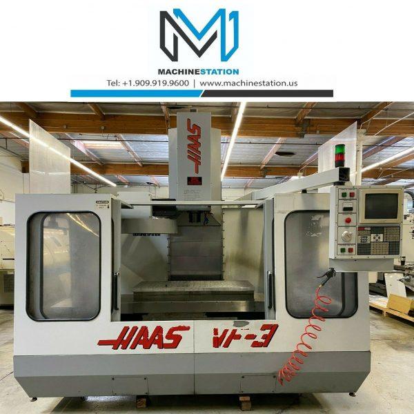 HAAS VF-3 CNC VERTICAL MACHINING CENTER 4TH AXIS READY MILL VF3 VF (1)